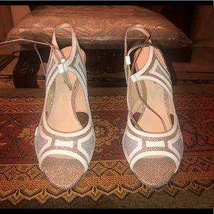 Nicholas Kirkwood Champagne Sparkle Sandals/Heels